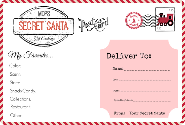 Christmas party all things mops for Secret santa email template